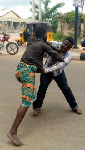 Mad man beats pastor
