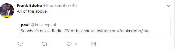 Frank Edoho Reveals