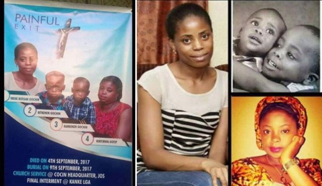 See Sad Photos Of Obituary Of Family Wiped Out By Accident In Plateau.