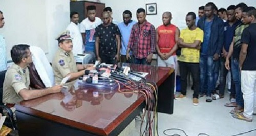 10 nigerians arrested Indian Police