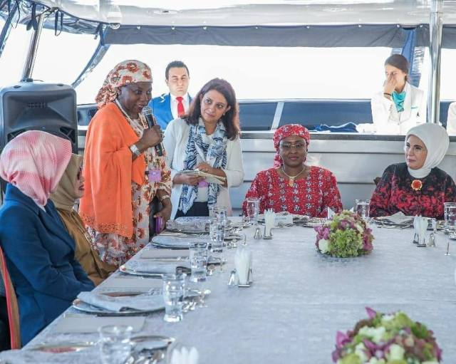 Photos Of Nigeria's First Lady, Aisha Buhari With Other First Ladies At D-8 Summit.