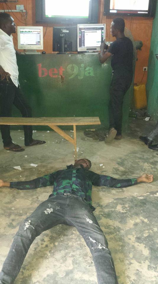 Nigerian Guy faints