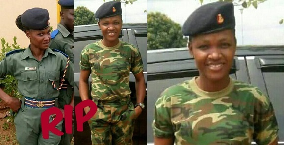 Female soldier dies