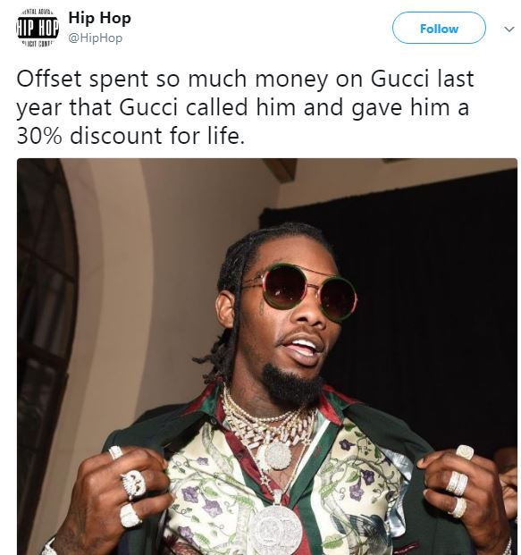 Gucci Gifts Offset