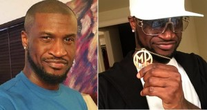 peter okoye flaunts customized pendant