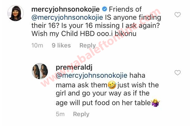 Mercy Johnson replies fans