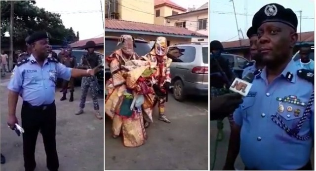 lagos state police arrest masquerades