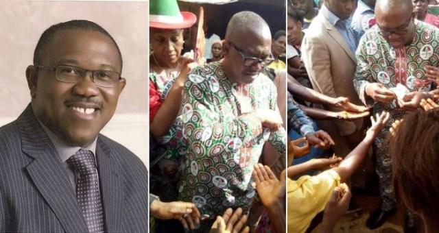 Peter Obi Photoed Sharing Money