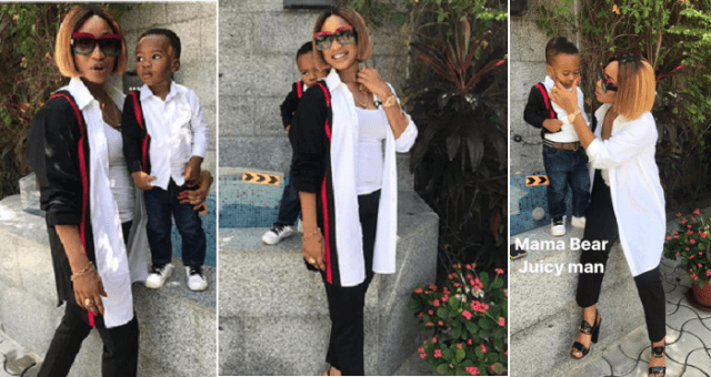 Tonto Dikeh And Her Son, King Andre Step Out Rocking Matching Outfits