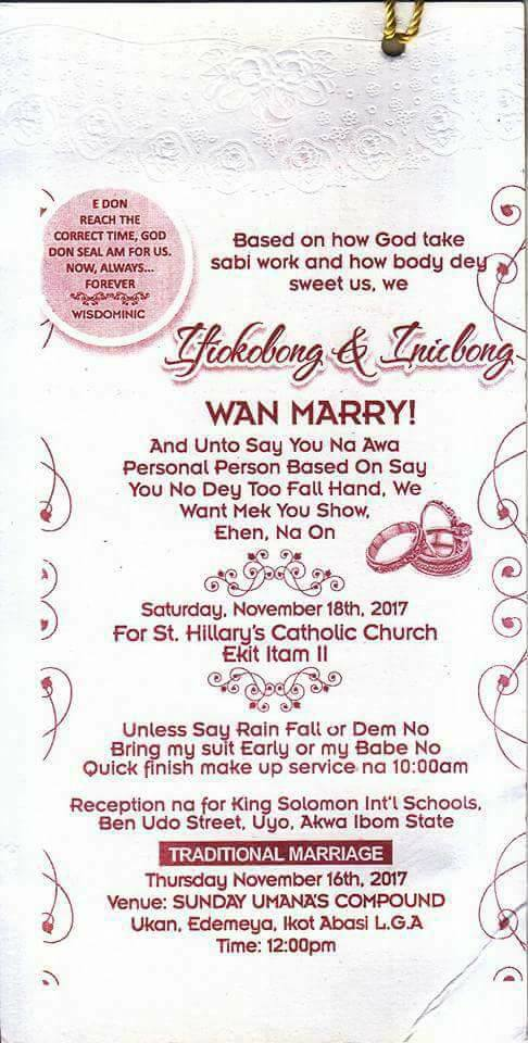 Couple's Wedding Invitation Card