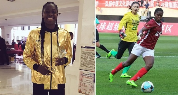 Image result for Super Falcons star Asisat Oshoala crowned Chinese women's League 'Best Striker for 2017'