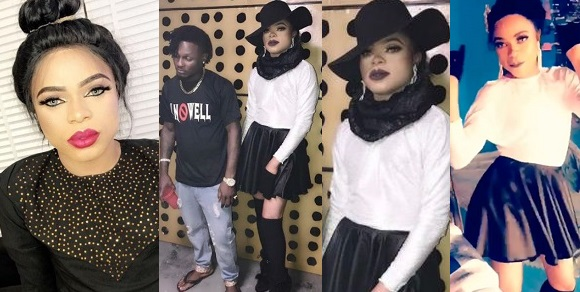 Bobrisky rocks skirt