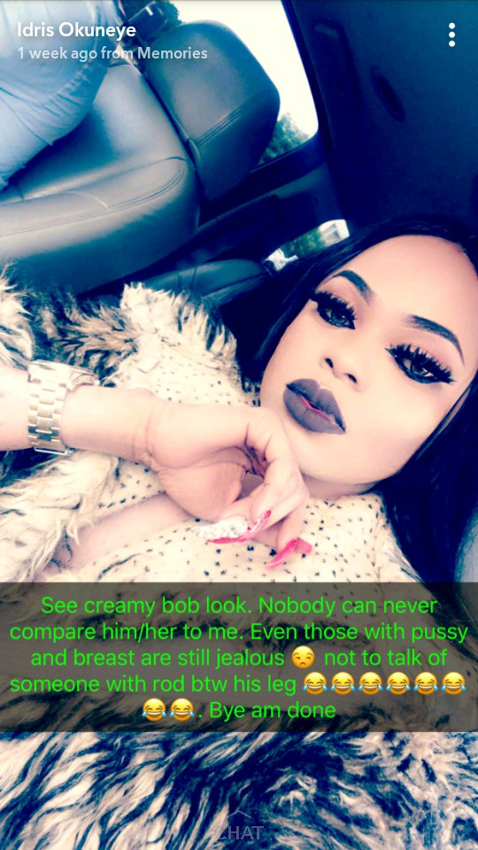 """""""I'm The Boss Now, Sit Down And Learn From Me"""" – Bobrisky Replies Denrele Edun."""