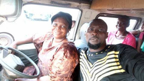 Female Bus Driver 03 - Meet Nigerian woman with 4 kids who drives a danfo bus all by herself without any conductor