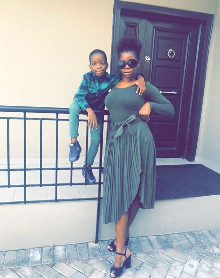 Shola ogudu and son 1 - Wizkid  welcomes another child with his manager, Jada Pollock