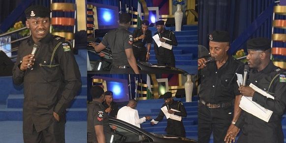 Apostle Suleman rocks police uniform