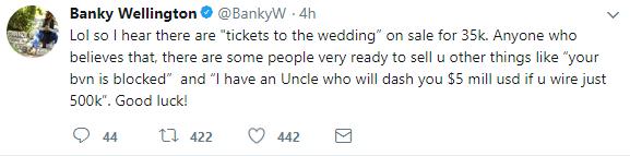 Banky W's Wedding Tickets