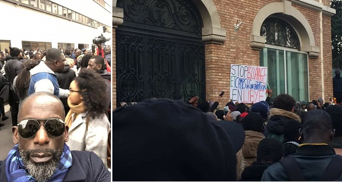 Didier Drogba And Hundred Others Protest Against Slave Market In France (photos)