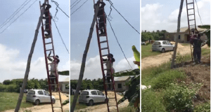 Angry Nigerian Lady Prevent PHCN Officials