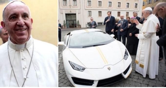 Pope Francis Personalized Lamborghini
