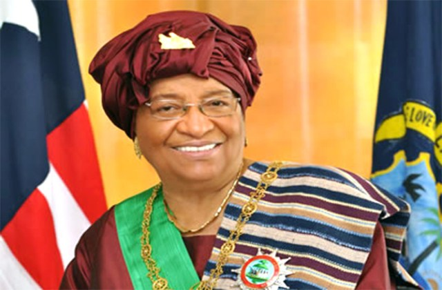 Ellen Johnson Sirleaf speaks
