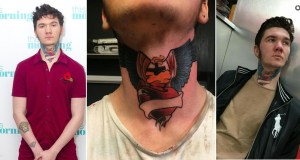 21-year-old huge neck tattoo
