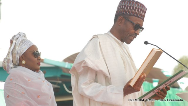 1 PIC.2. SWEARING IN OF THE NEW PRESIDENT IN ABUJA - Why I belong to everybody and nobody - Buhari clarifies