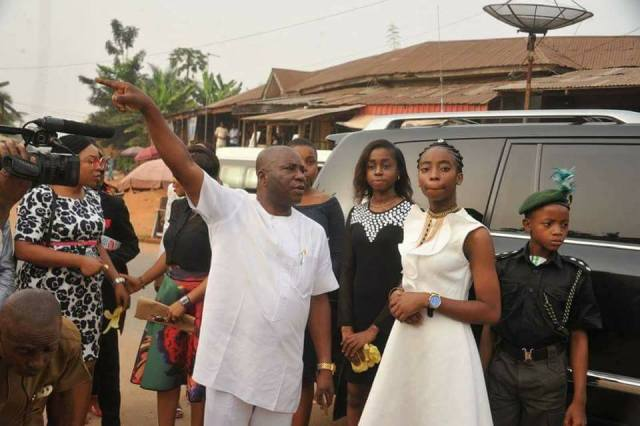 14 year old 0 - 14 Year Old Joy Ezechikamnayo begins duty as Abia State governor along with her team & security (photos)