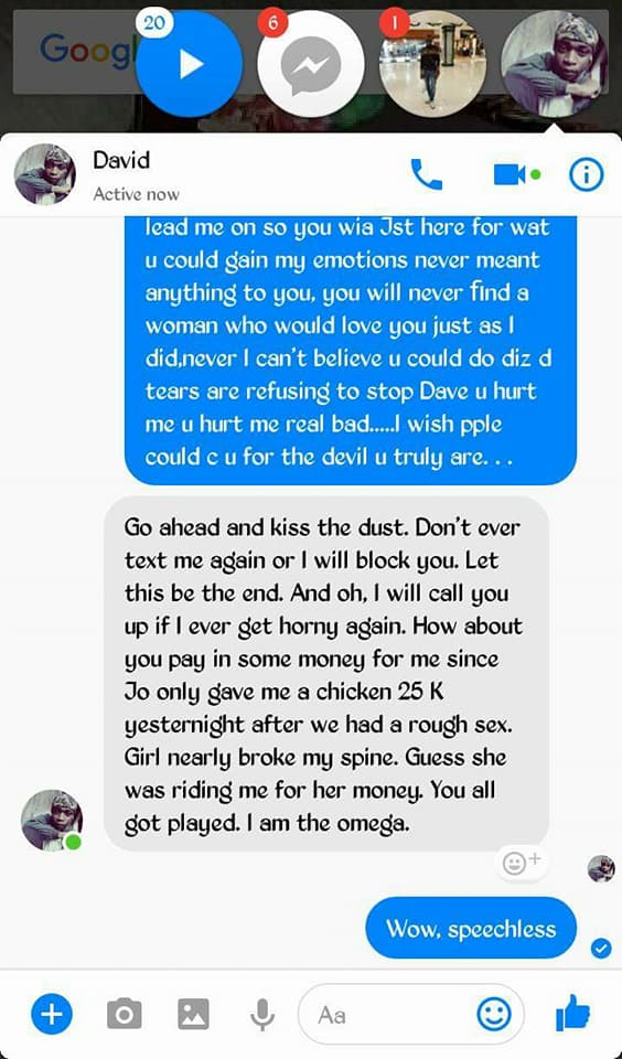 9 - Lady calls out boyfriend she gives money, for cheating on her with her bestfriend