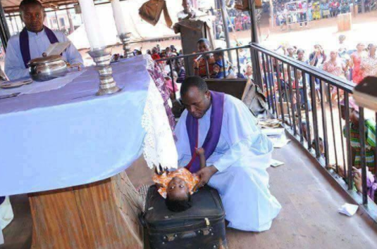 Fr 01 - Father Mbaka allegedly resurrects a dead baby during a crusade