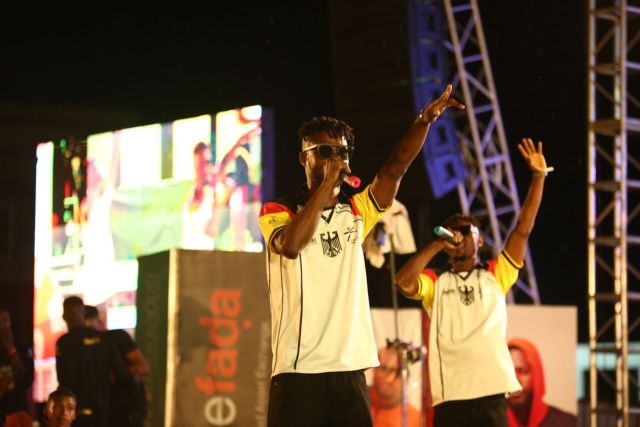 IMG 5610 preview - Davido, Runtown, Mr. P, Niniola, Oritsefemi, 9ice, Olu Maintain, Falz & more Shutdown Barbeach at the Merrybet Celebrity Fans Challenge Event