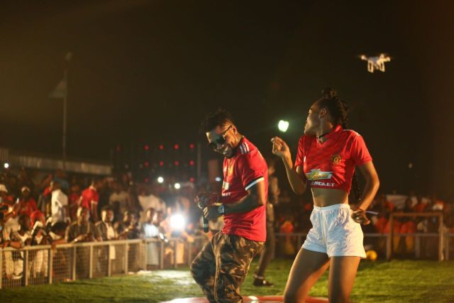 IMG 6180 preview - Davido, Runtown, Mr. P, Niniola, Oritsefemi, 9ice, Olu Maintain, Falz & more Shutdown Barbeach at the Merrybet Celebrity Fans Challenge Event