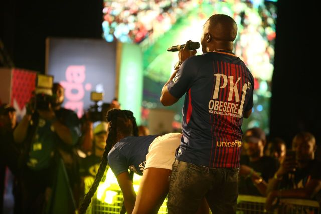 IMG 6247 preview - Davido, Runtown, Mr. P, Niniola, Oritsefemi, 9ice, Olu Maintain, Falz & more Shutdown Barbeach at the Merrybet Celebrity Fans Challenge Event