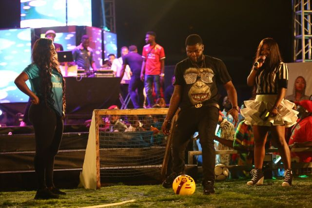 MCFC11 - Davido, Runtown, Mr. P, Niniola, Oritsefemi, 9ice, Olu Maintain, Falz & more Shutdown Barbeach at the Merrybet Celebrity Fans Challenge Event