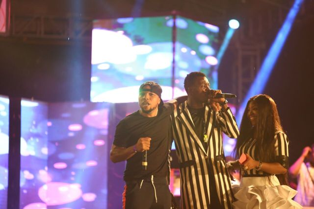 MCFC14 - Davido, Runtown, Mr. P, Niniola, Oritsefemi, 9ice, Olu Maintain, Falz & more Shutdown Barbeach at the Merrybet Celebrity Fans Challenge Event