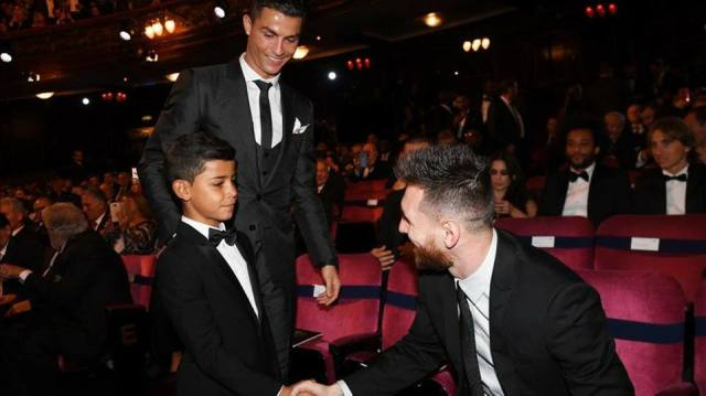 """""""Thank you my Idol"""" – Cristiano Ronaldo's Son To His Father's Biggest Rival, Messi._1"""