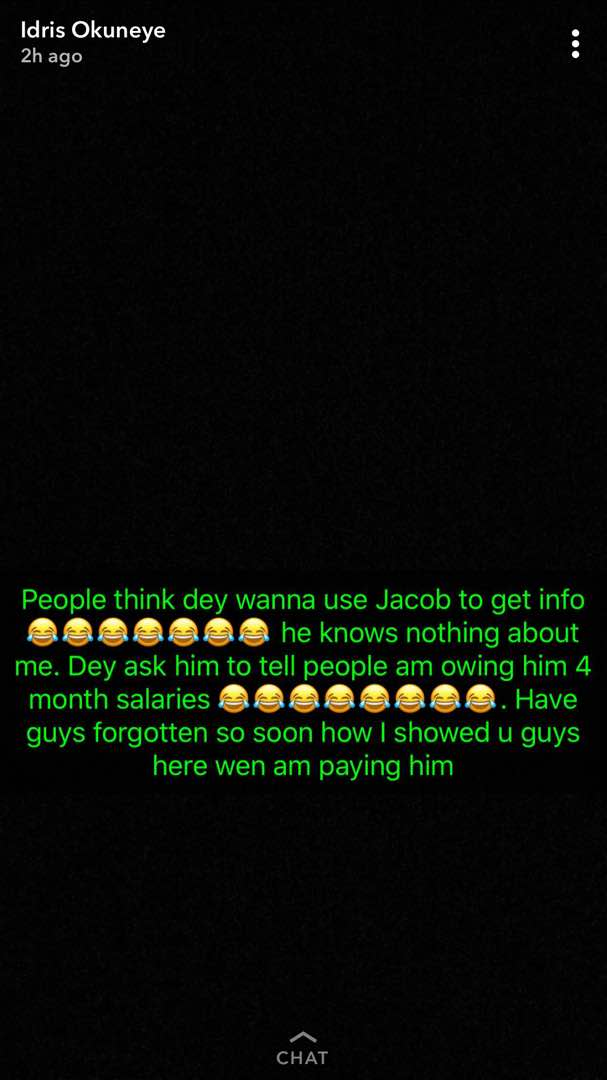 WhatsApp Image 2017 12 04 at 3.03.18 PM - After firing Jacob.... Meet Bobrisky's new gateman, Titus