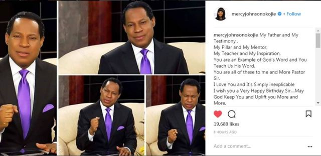 "chrisss - ""You are an Example of God's Word and You Teach Us His Word"" — Mercy Johnson celebrates Pastor Chris Oyakhilome on his birthday"