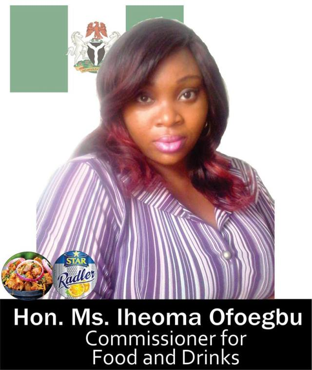 commmo - Meet the Honourable Commissioner for Foods and Drinks (Photo)