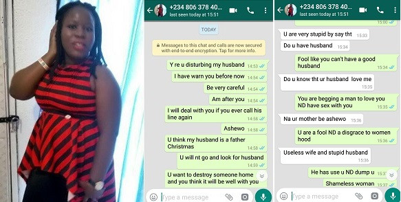 Image result for Lady Exposes Woman Who's Trying To Sleep With Her Husband; Shares Screenshots.