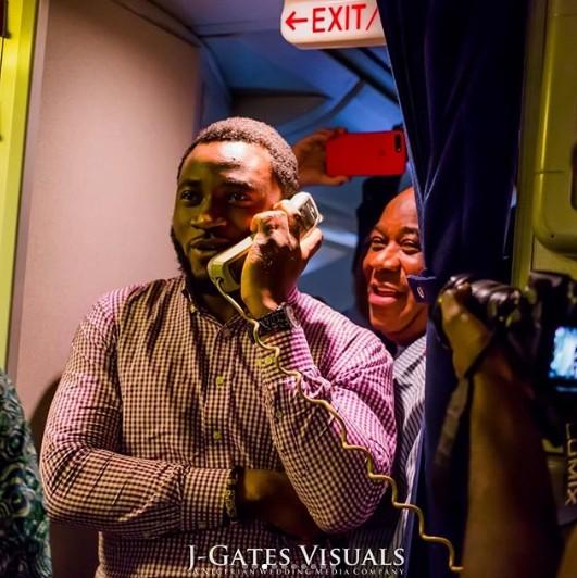 propose on a plane - Nigerian Man Proposes To His Girlfriend On Board A Plane To Dubai. (Photos)