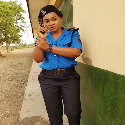 Mercy Aigbe rocks Police Uniform