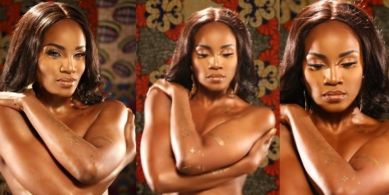 Seyi Shay goes topless