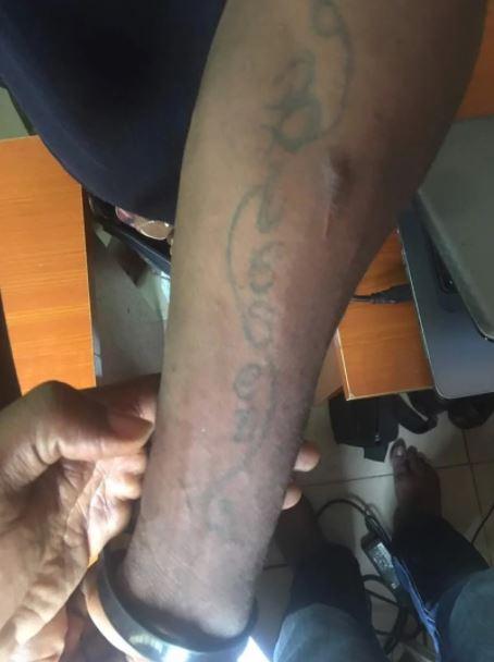 Oshodi phone thief tattoos names