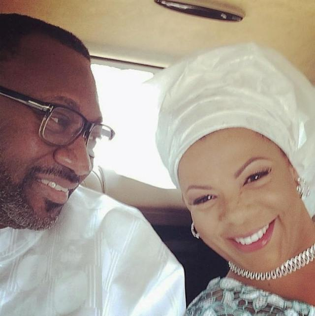 Billionaire, Femi Otedola Shares Lovely Valentine Day Photo With His Wife