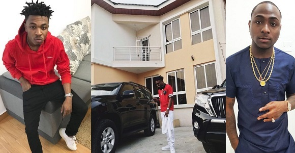 Congratulations! Mayorkun Acquires A New Mansion, Davido Reacts (Photos)
