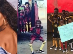 Rihanna thanks Nigerian kids