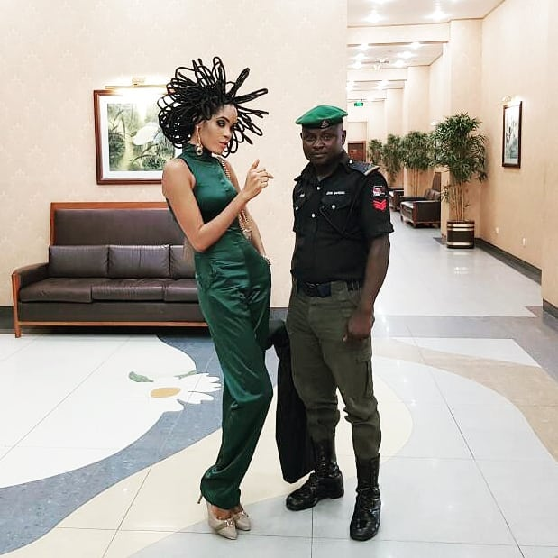 model gets police protection