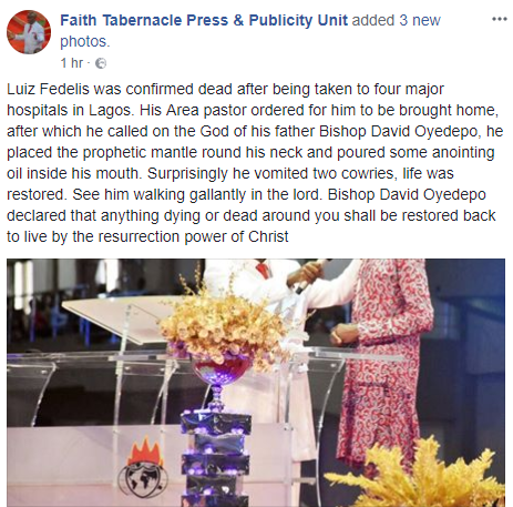 Bishop David Oyedepo ministries, faith tabernacle press and publicity unit finalgist