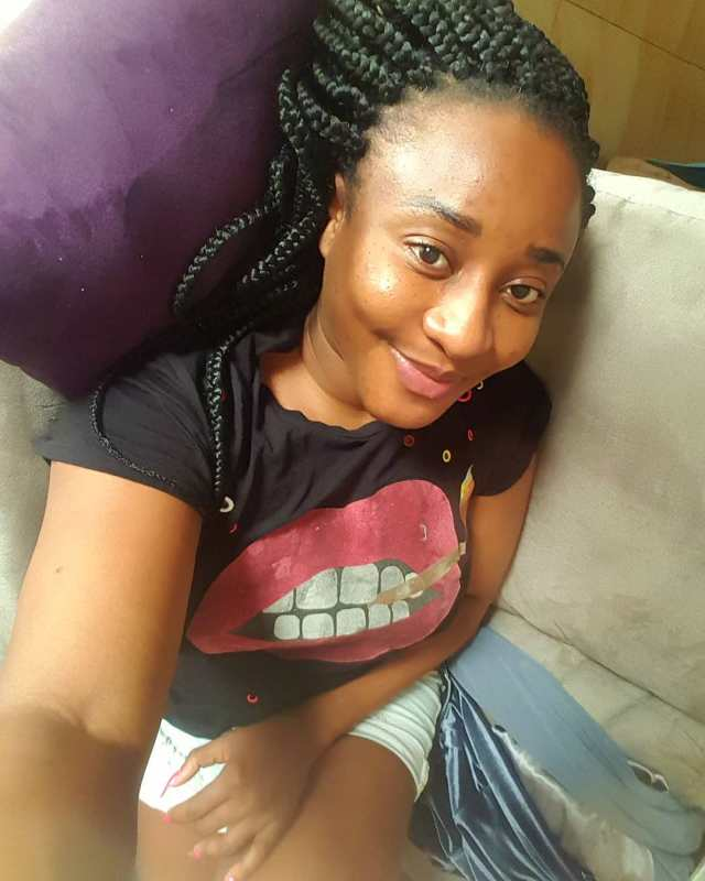 Actress, Ini Edo flaunts her 'Make-up' free face (Photo)